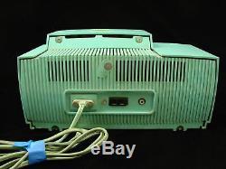 Vtg Retro General Electric Turquoise C-416C and Zenith R519-W Clock Radios