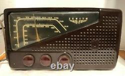 Vtg ZENITH AM/FM 7H822Z 1949 BAKELITE TUBE RADIOWORKS GREAT NO CRACKS OR BREAKS