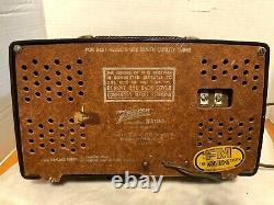 Vtg ZENITH AM/FM 7H921 1949 BAKELITE TUBE RADIOWORKS GREAT NO CRACKS OR BREAKS