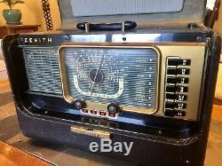 Vtg ZENITH Model H500 Trans Oceanic Short Wave Radio Chassis 5h40 Great Cond