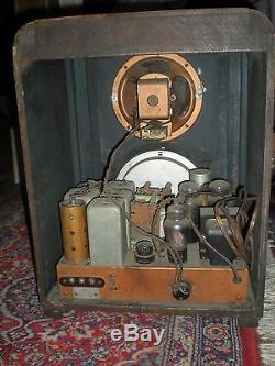 Vtg ZENITH Tombstone Tube Shortwave, AM Tube Radio, 6-S-229