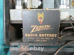 Vtg Zenith Model 6G001Y, Universal Long Distance AM RadioGD+#ZR8.11.21