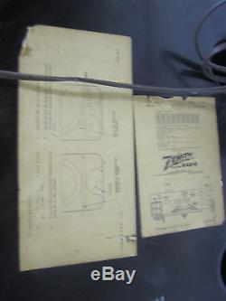 Vtg Zenith Model J 664 Cobramatic Radio Phonograph Bakelite Cabinet Tabletop