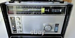 Vtg Zenith Trans Oceanic Royal D7000Y Multi-Band Radio Power Cord Battery Tubes