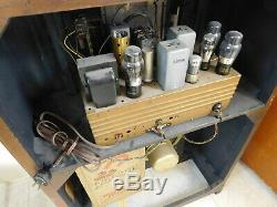 WORKING 1942 Antique Black Dial Long Distance Zenith Tube SW Radio Console 8S661