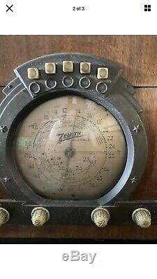 ZENITH 6S322 Vintage Radio. For Parts Or Repair