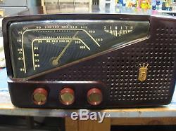 ZENITH 7R21 AM/FM restored bakelite antique vintage vacuum tube table radio