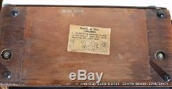 ZENITH Eames Design Body Mid Century Tube Radio 6D030 WORKS