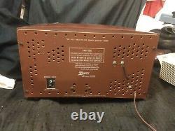 ZENITH G730 Vintage 35 Watt AM/FM Tube Radio TESTED & WORKING Sounds Great