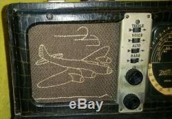ZENITH Model 7G605 Bomber TransOceanic Radio S/N T849661