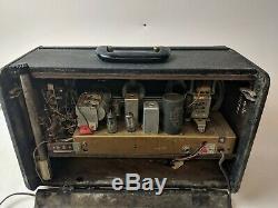 ZENITH Model H500 TRANS-OCEANIC Portable TUBE RADIO 1953