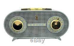 ZENITH Model R-510G ART DECO tube Radio Gray and Yellow GORGEOUS