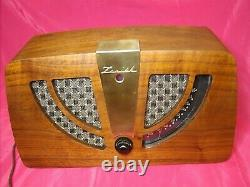ZENITH RADIO 6D030 6 TUBE 1946 AM THE EAMES Fully Restored. Look