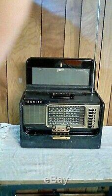 ZENITH SUPER DeLuxe TRANSOCEANIC 1956 TUBE RADIO