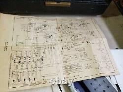 ZENITH TRANS-OCEANIC G500 1950 short wave radio ORIGINAL AND UNRESTORED 5 tube