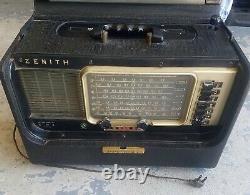 ZENITH TransOceanic model 600 wave magnet Tube SHORTWAVE world Radio vintage