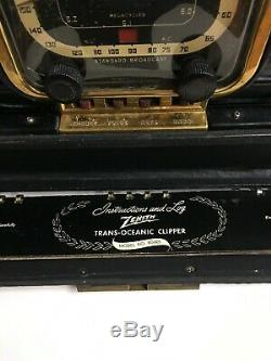 ZENITH Trans-Oceanic 8G005Y SHORTWAVE RADIO WORKING CONDITION