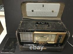 ZENITH Trans-Oceanic Wave Magnet H500 Tube Shortwave Radio Receiver WORKS