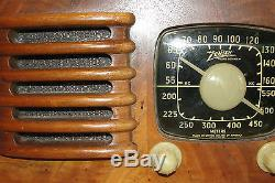 ZENITH Vintage Tube Radio Model 6D525 Toaster Circa 1941 Wood Plays Very Nice