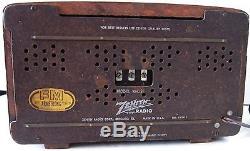 Zenith 1946 Radio Model # 8H034Z