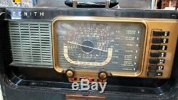 Zenith 1950's Trans Oceanic Multi Band Radio H 500 Powers On & Works