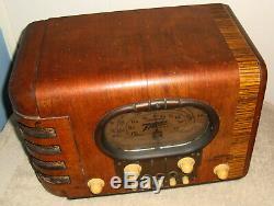 Zenith 5S-319 Racetrack Dial Radio C-1939