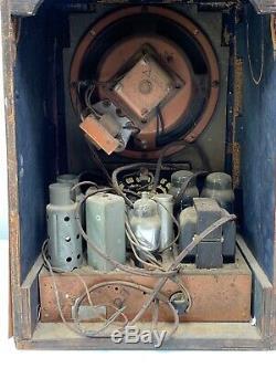 Zenith 5-R-135 Tombstone Tabletop Antique Radio 1937 PARTS/REPAIR 16.5H X 12 W