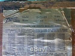 Zenith 5-s-29 Black Dial Radio Restored