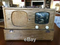 Zenith 5g500 Portable Am Tube A/c D/c Radio Restored
