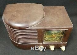 Zenith 6D512 Antique ART DECO Bakelite Old Tube Radio Working! All Original