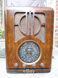 Zenith 6S229 Wood Tombstone Tube Radio Working OEM Knobs Fully Restored Playing