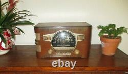 Zenith 6S532 vintage tube radio black dial 1941 Beautiful condition