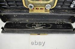 Zenith 8G005 Trans-Oceanic Short Wave Radio Portable Case AS IS Condition