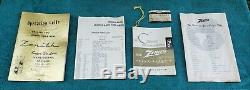 Zenith A600L Transoceanic WAVE MAGNET Shortwave Tube Radio Leather