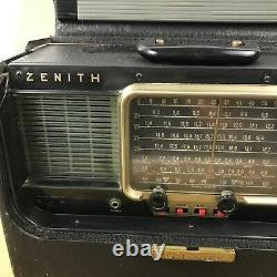 Zenith A600 Transoceanic Tube Radio with RCA Jack (For Parts/Repair)