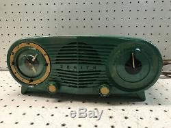 Zenith AM Tube Radio Art Deco Mid Century Eames Era for Parts and Restoration