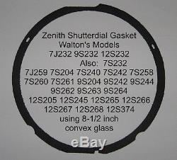 Zenith Antique Radio Shutterdial Black Repro Gasket 8-1/2 inch Walton's