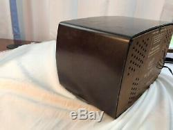 Zenith Art Deco Bakelite Plastic Case AM FM Tube Radio Model T723 Works 1950's