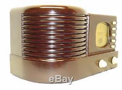 Zenith Art Deco Bakelite Plastic Case AM Tube Radio Model 5R312