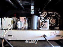 Zenith Bakelite Racetrack deco radio pristine restoration m-511 c-1951 stunner