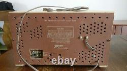 Zenith C730 AM-FM Radio ca. 1950s, Working, with Original Manual