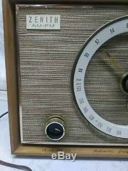 Zenith C835E AM/FM Automatic Frequency Control Tube Radio Working Prop