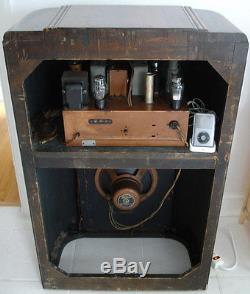 Zenith Console Radio Antique vintage old style art deco tube radio
