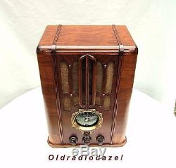Zenith Deco Tombstone radio Fully Restored Cabinet M-5-S-29 Black Dial Stunner