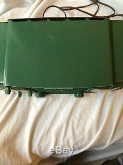 Zenith Early 1950 Green Bakelite S-20558 Tabletop Radio with Clock-Works