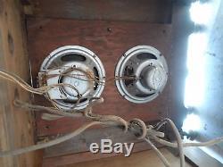 Zenith Floor Model Antique Tube Radio Wood Console Super Heterodyne 970 1935