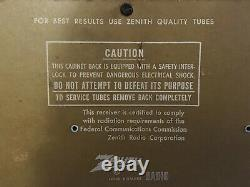 Zenith High Fidelity 1959 VTG Mid Century glass tube Very Good Vintage Condition