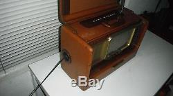 Zenith L600 Brown Leather Transoceanic AM & 6 SW Bands Tube Radio 1950's/Works
