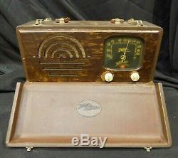 Zenith Mod 6-g-501l Antique Tube Radio From 1940 Works