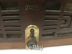 Zenith Model 5r086 / Ch 5c02 Radio/ Phonograph 1947 Radio Works Estate Find